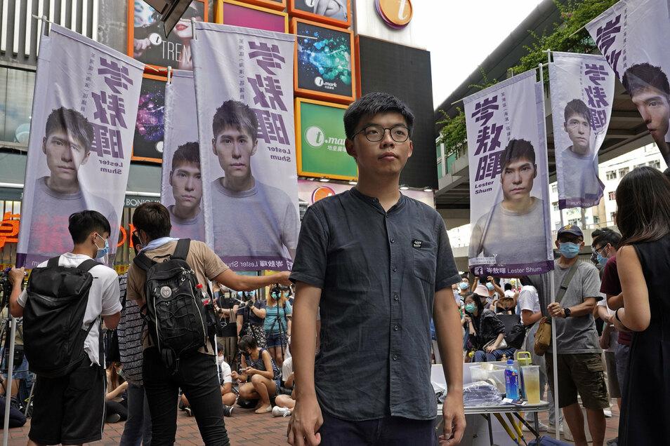 """Joshua Wong will der """"Bild"""" kein Interview gegeben haben."""