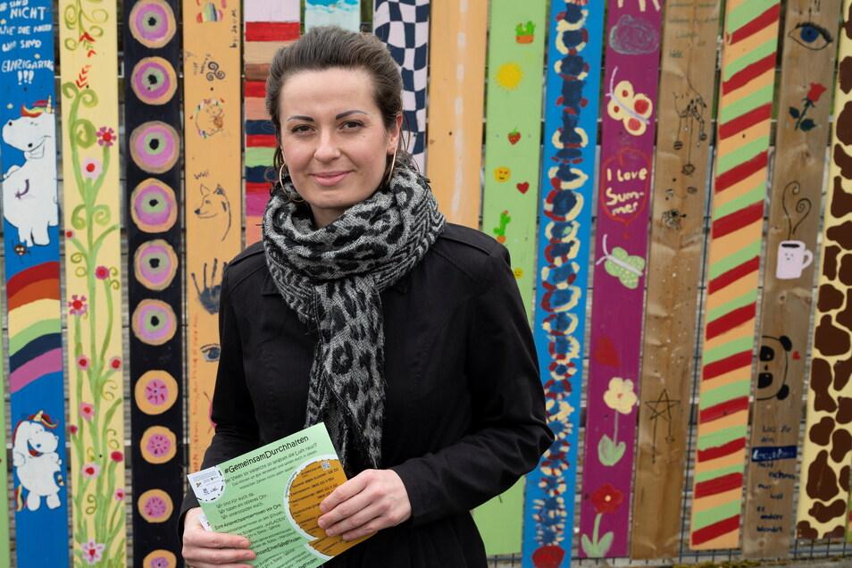 Janine Seemann leitet das 15-köpfige Team für Schulsozialarbeit bei Sprungbrett, das im Altkreis Riesa-Großenhain und in Oschatz aktiv ist.