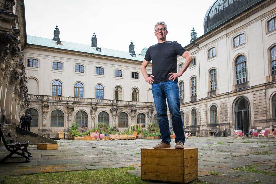 Jörg Polenz geht auf die Barrikaden. Sein Konzept für die Zukunft des Palaissommers soll nicht länger verstauben.