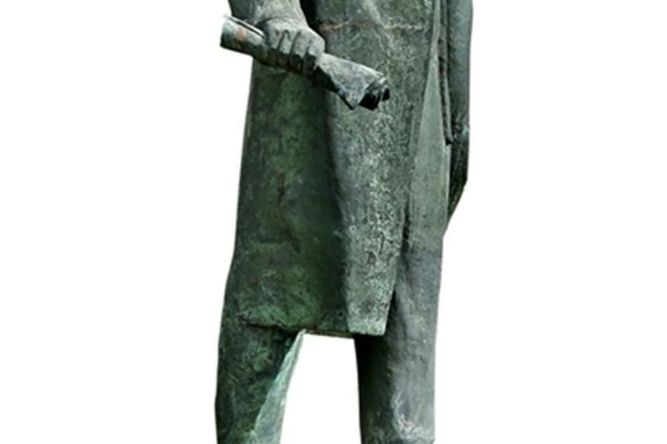 Lenin als Standbild musste umziehen.