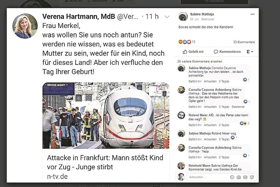 """Abgeordnete Hartmann, Tweet gegen Merkel. """"Zugegeben, das ist zu theatralisch."""""""