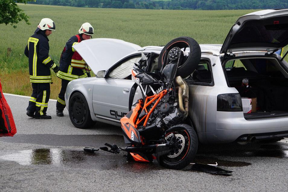 Ein Motorradfahrer verlor vor zwei Jahren bei einem Unfall an der Kreuzung von Neukircher und Brösanger Straße bei Drauschkowitz sein Leben. Der Verkehrsknoten gilt als gefährlichste Unfallstelle im Landkreis Bautzen.