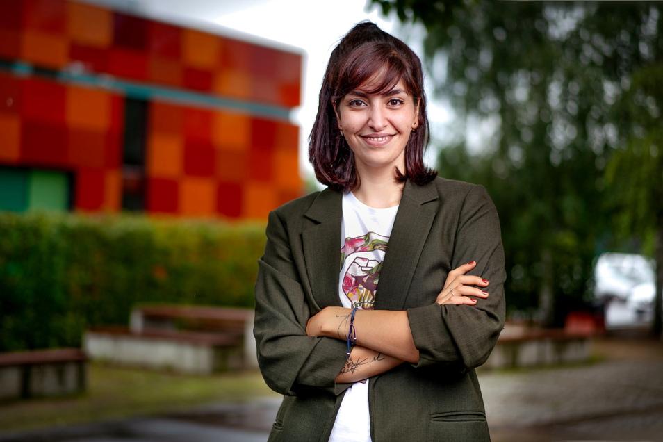 Rasha Nasr ist gebürtige Dresdnerin mit syrischen Wurzeln. Sie will für die SPD in den Bundestag.