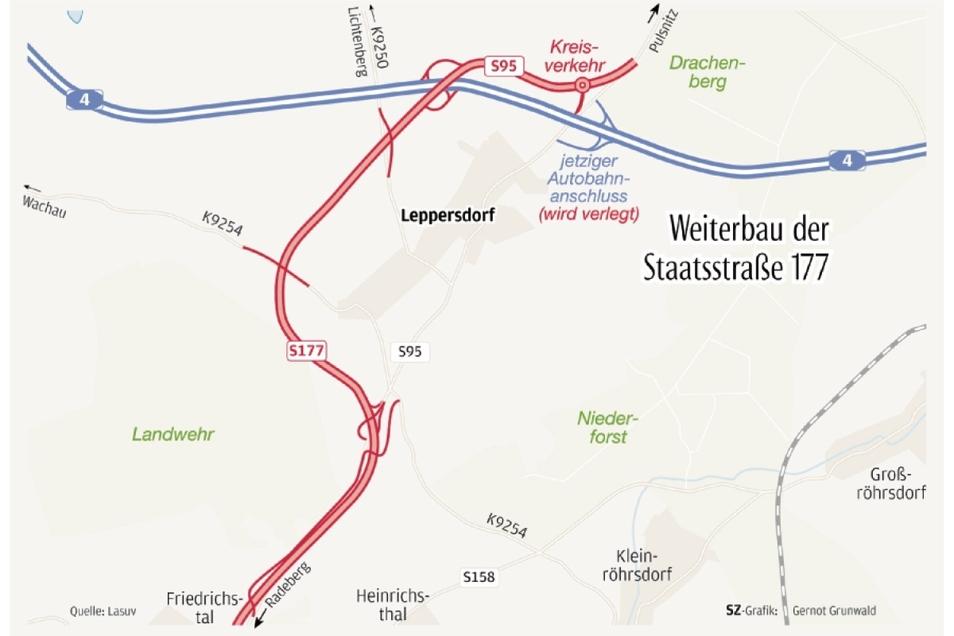 Der Abschnitt zwischen Radeberg und dem Abzweig Leppersdorf (S95) soll im Herbst freigegeben werden.