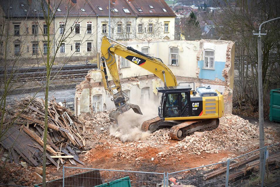 Seit vergangener Woche ist das Gebäude Bergstraße 2a in Zittau abgerissen worden.