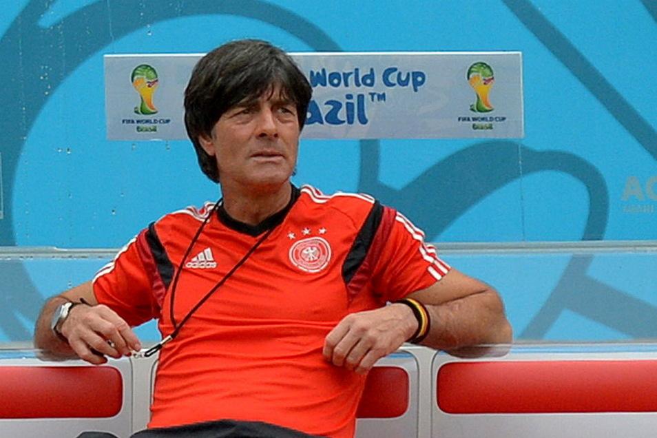 Bundestrainer Joachim Löw im Jahr 2014 bei der Fußball-WM in Brasilien
