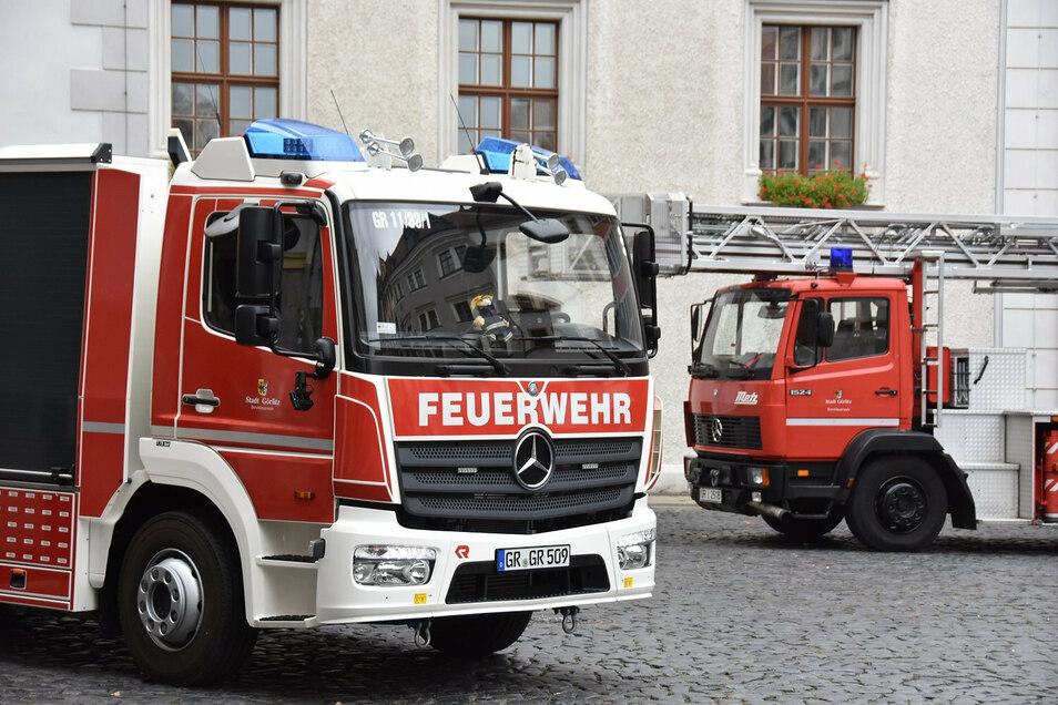Die Feuerwehr rückte zu einem Baustellenbrand in der Wildsruffer Altstadt aus.