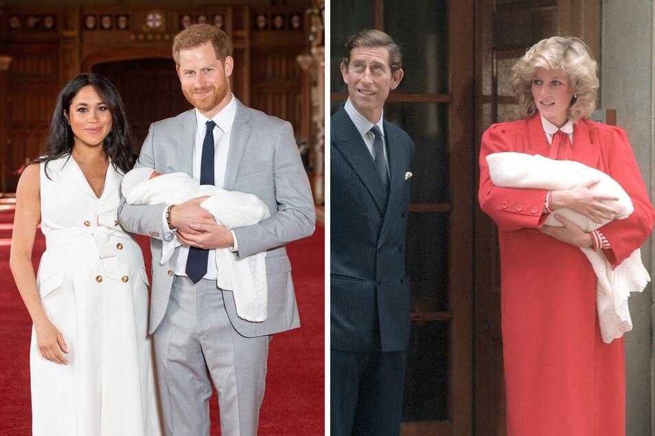 Prinz Harry hielt beim Fototermin seinen Sohn auf dem Arm - sein Vater Prinz Charles überließ das 1984 nach Harrys Geburt seiner Frau Diana.