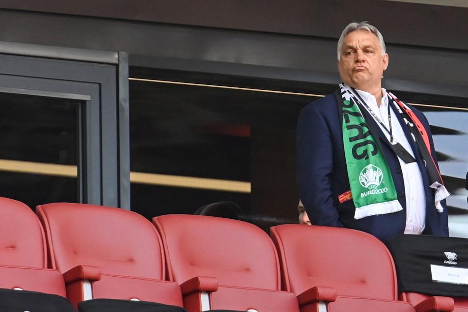 Viktor Orban, Ministerpräsident von Ungarn, war beim Spiel Ungarn gegen Portugal im Budapester Stadion dabei. Nach München zur Partie Deutschland gegen Ungarn kommt er aber nicht.