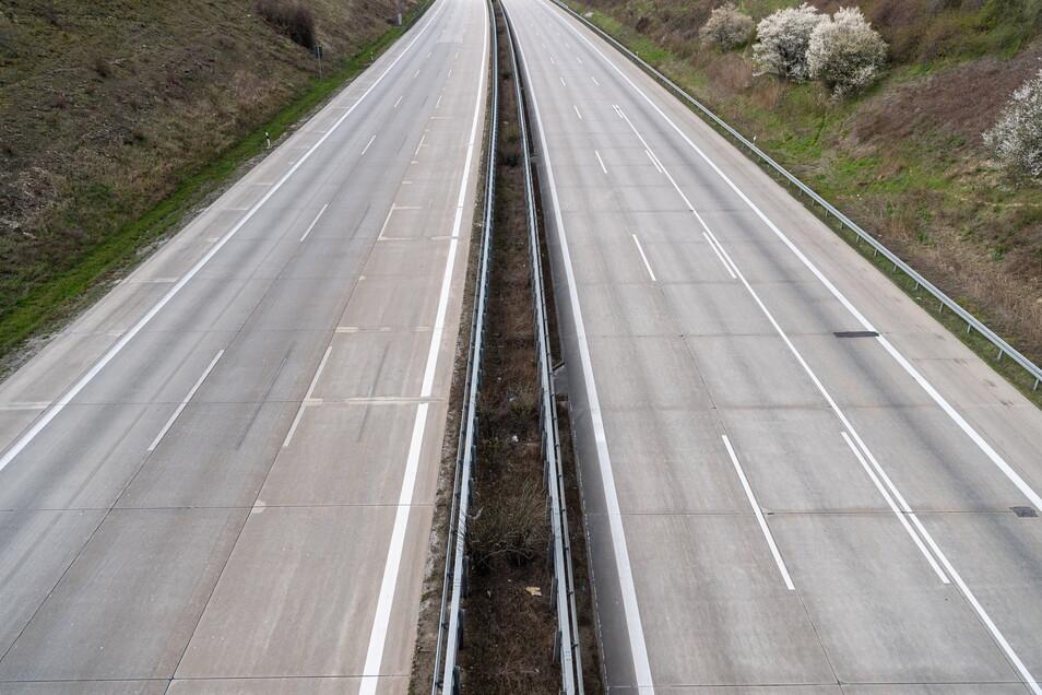 So sah die A4 im April des vergangenen Jahres aus. Damals gab es den ersten großen Lockdown.