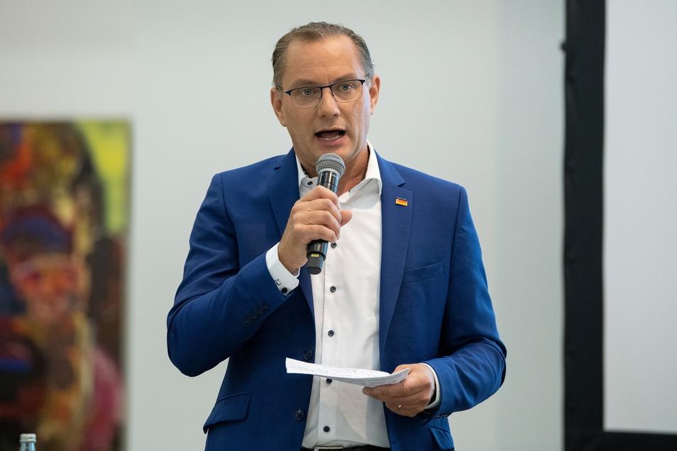 Tino Chrupalla (46) tritt im Wahlkreis Görlitz an.