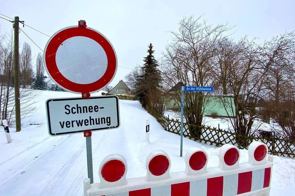 Die K 8618 zwischen Oderwitz und Mittelherwigsdorf ist eine der zahlreichen gesperrten Straßen.