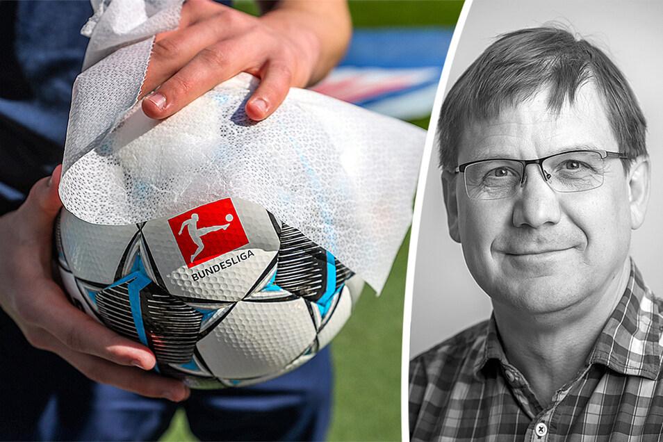 Der Ball rollt wieder in den Bundesligen - aber er muss regelmäßig desinfiziert werden.