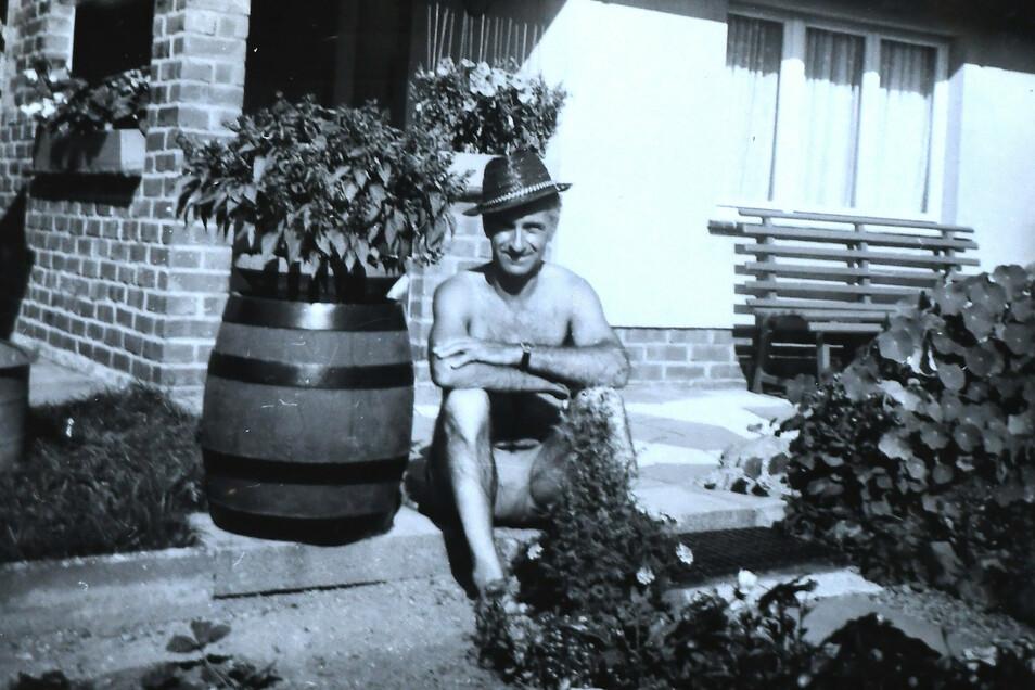 ... und in späteren Jahren in seinem Kleingarten unweit der Olbersdorfer Wohnung.