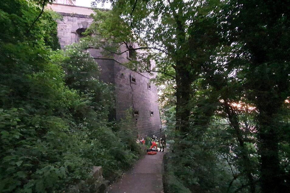 An dieser Mauer scheiterte der Kletterversuch.
