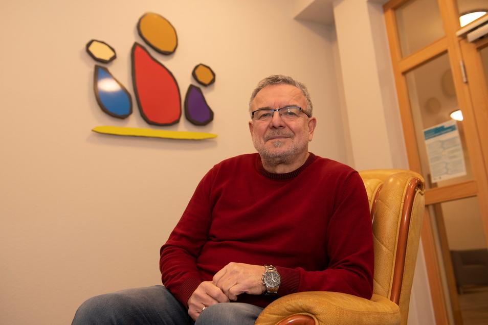 Der langjährige Leiter des Alberttreffs Uwe Naumann geht in den Ruhestand.