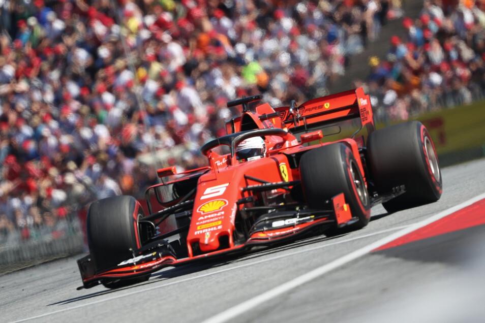 Auf der Strecke war Sebastian Vettel ganz flott unterwegs. In der Box klemmte es aber.