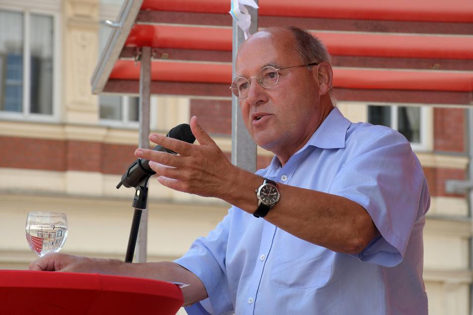 Linken-Spitzenkandidat Tilo Hellmann hat für Donnerstag einen Besuch von Linken-Galionsfigur Gregor Gysi in Meißen angekündigt.
