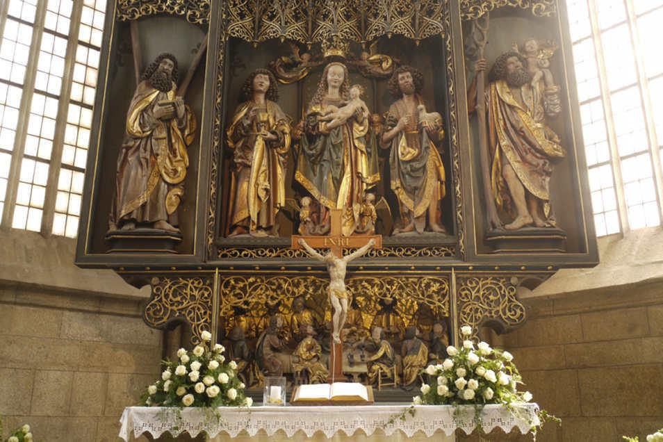 Ein wertvoller Schnitzaltar in der St. Marien-Kirche Kamenz