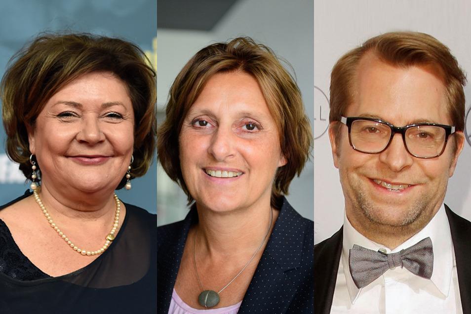 Susanne Laschet (v. l. n. r.), Britta Ernst und Daniel Holefleisch - das sind die Ehepartnerinnen- und Partner der Kanzlerkandidaten.