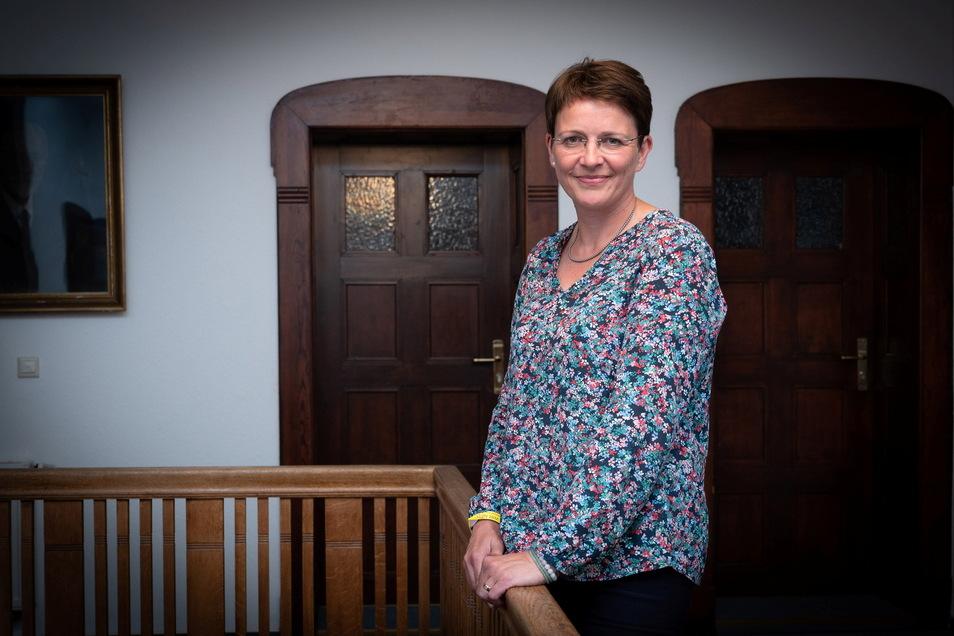 FDP-Direktkandidatin Silke Müller (51) bei der Wahlparty ihrer Partei im Liberalen Haus.