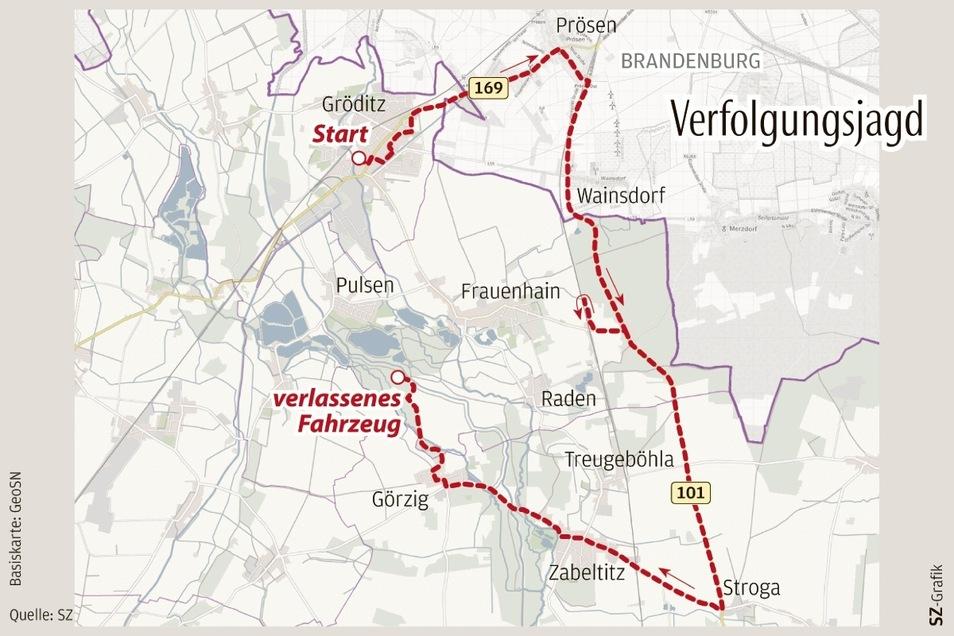Mehr als 25 Kilometer weit verfolgte die Polizei den Transporter, ehe der Fahrer zu Fuß weiter flüchtete.