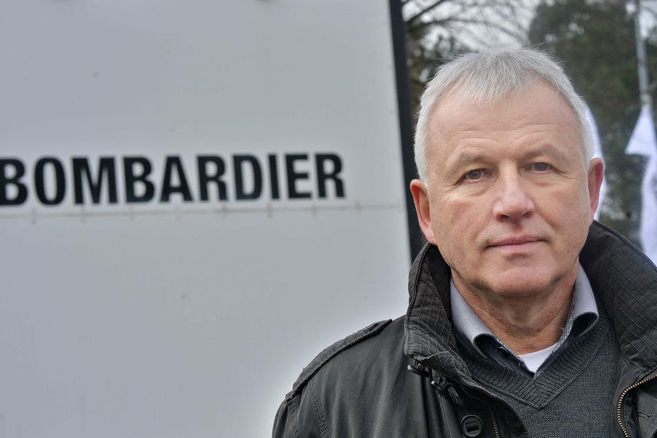 Gerd Kaczmarek ist sowohl Betriebsratsvorsitzender des Bautzener Bombardier-Werkes als auch Zweiter Bevollmächtigter der IG Metall für Ostsachsen. Er verhandelt jetzt in doppelter Mission.