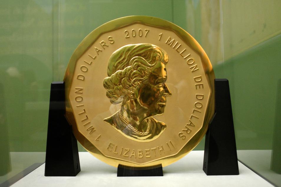 Beim Einbruch ins Berliner Bodemuseum im März 2017 wurde diese 100 Kilogramm schwere Goldmünze gestohlen. Sie ist schätzungsweise 3,75 Millionen Euro wert - und spurlos verschwunden.