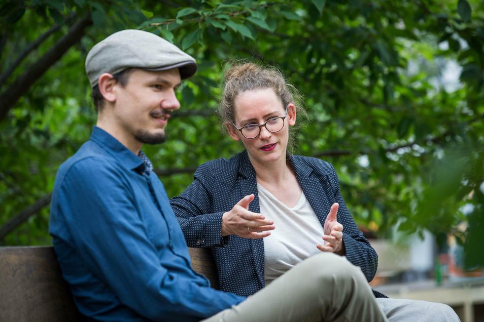 Dresdens Grünen-Chefin Susanne Krause und -Chef Klemens Schneider sprechen im SZ-interview über die Pläne der Partei.
