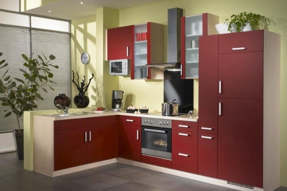 Wer es lieber bunt mag, für den wäre eine rote Küche eine gelungene Abwechslung.