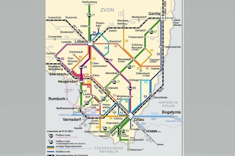Neuer Liniennetzplan für den Süden des Kreises Görlitz.