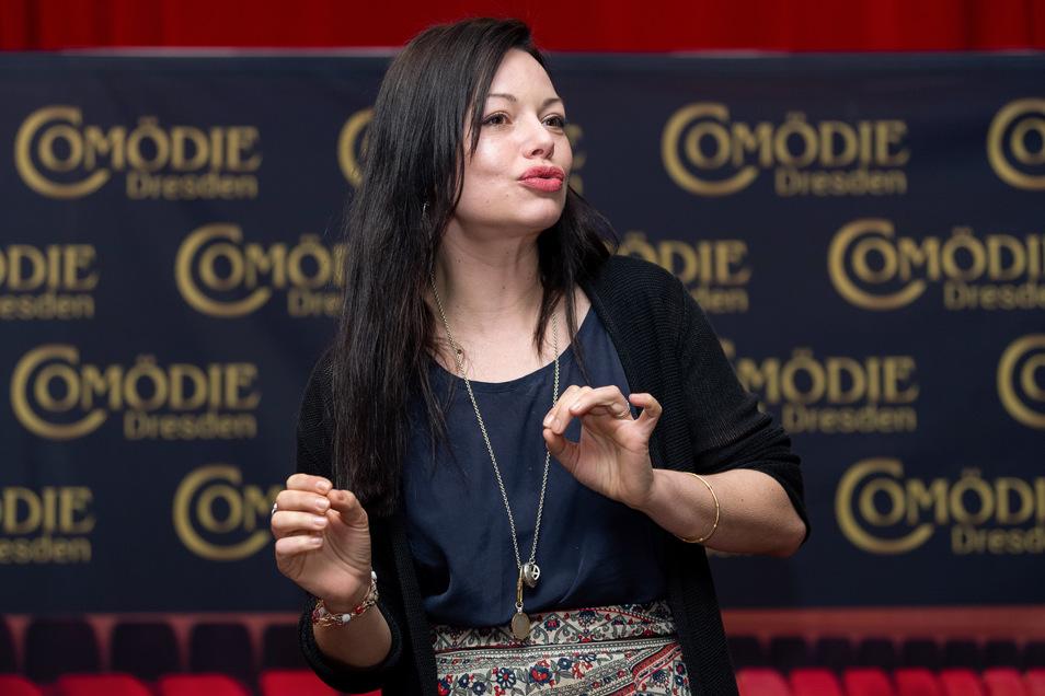 Schauspielerin Cosma Shiva Hagen in der Comödie Dresden