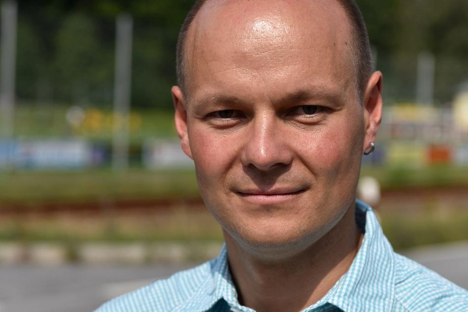 Auch Manuel Schneider von der Wählergemeinschaft Schlottwitz hält sich noch alles offen.