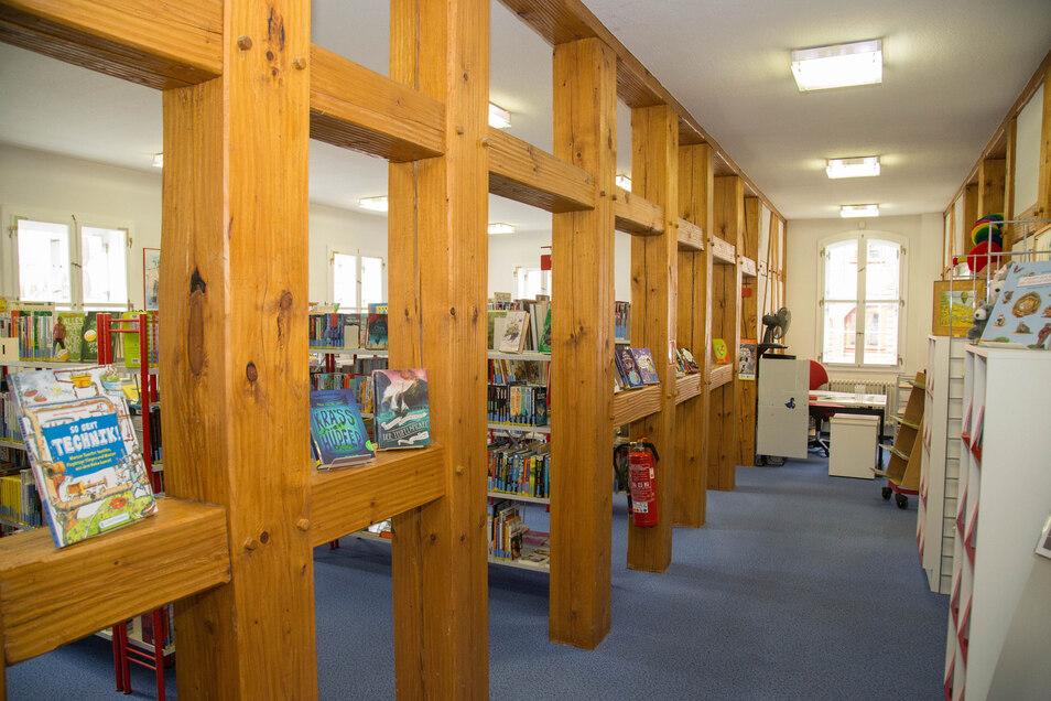 Blick in die Kinderbibliothek im Alten Pädagogium in Niesky.