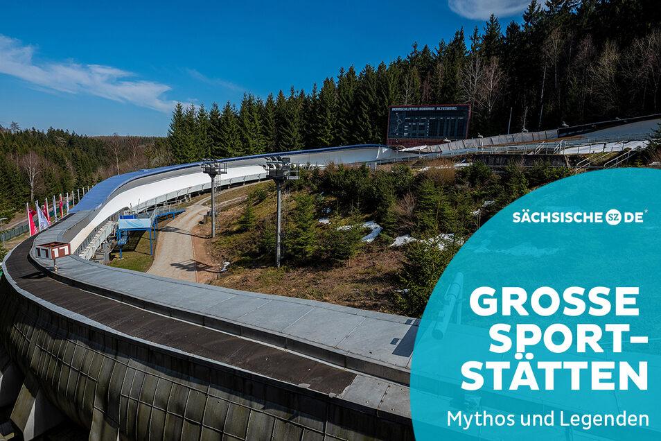 Gilt heute als das Mekka des Bobsports: der schnelle wie anspruchsvolle Eiskanal in Altenberg.