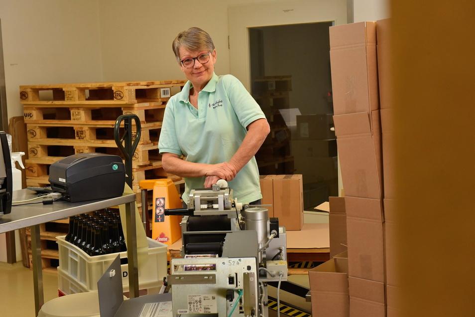 Fleißig, zuverlässig und immer gut drauf: Bettina Kreher ist bei Bombastus eine wichtige Mitarbeiterin.