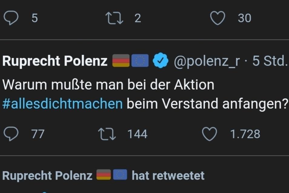 Spöttelt auf Twitter zurück: CDU-Politiker Ruprecht Polenz.