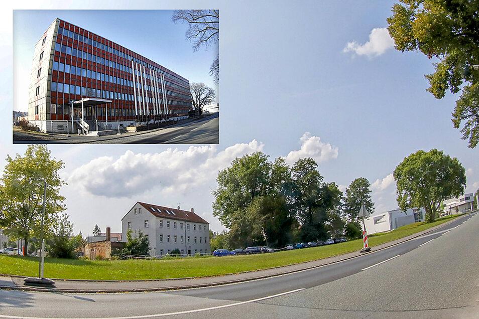 Kaum zu glauben, dass nur reichlich ein Jahr zwischen den Aufnahmen liegt. Das Haus III der Hochschule in Zittau war bis Ende August 2018 abgerissen worden.