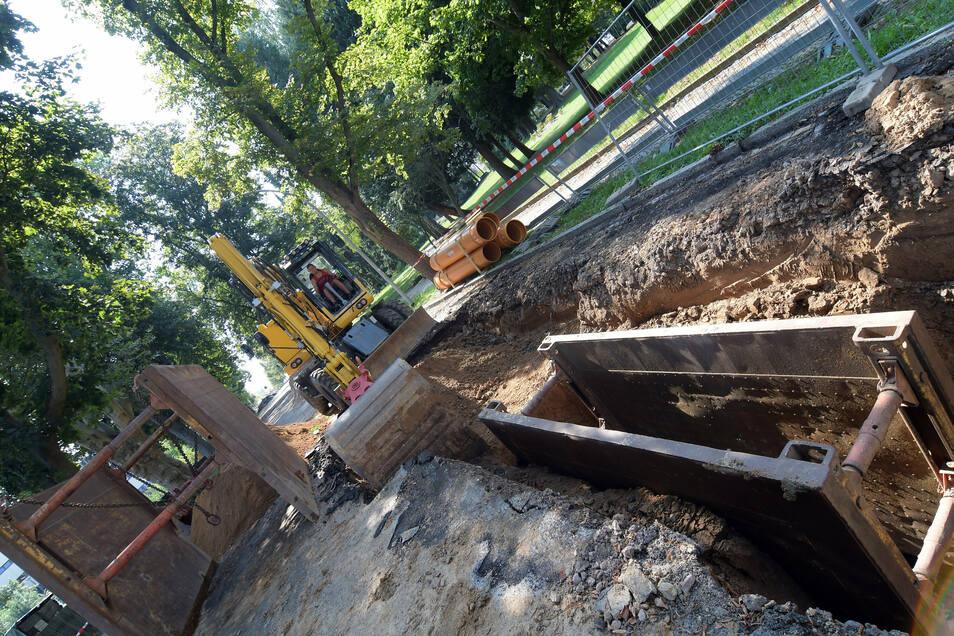 Im August vergangenen Jahres musste ein Abschnitt des Abwasserkanals in der Sonnenstraße repariert werden. Kurze Zeit später gab es einen Schaden an der Trinkwasserleitung.