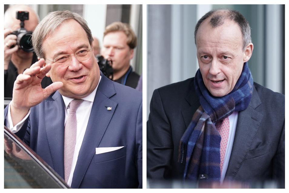Armin Lachet (l) und Friedrich Merz wollen für den CDU-Vorsitz gegeneinander antreten.