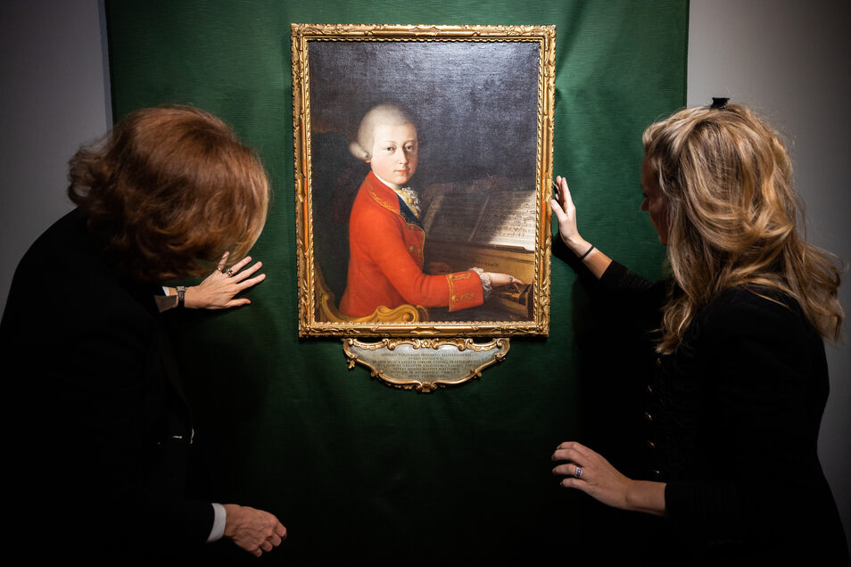 Ein Gemälde des jungen Mozarts, das letztes Jahr beim Auktionshaus Christie's versteigert wurde.