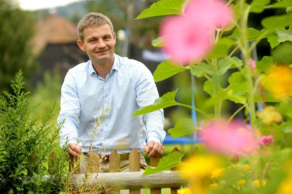 Ringo Hensel möchte neuer Oberbürgermeister in Löbau werden. Er kandidiert für die CDU.