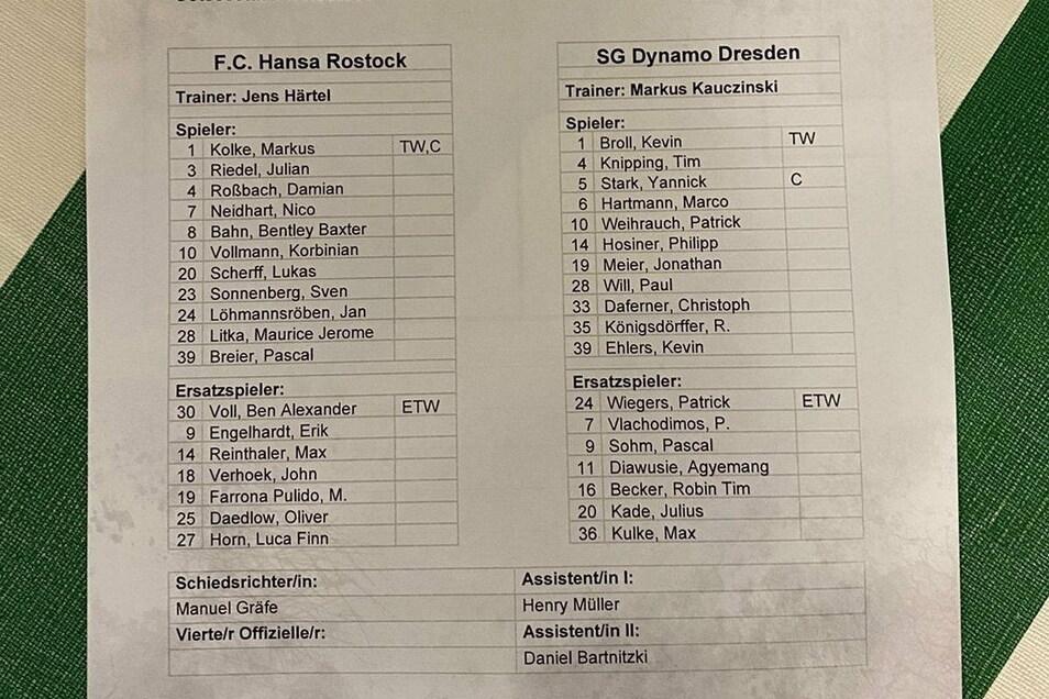 Mit Marvin Stefaniak und Sebastian Mai bleiben zwei Leistungsträger in Dresden. Dafür spielen Paul Will und Patrick Weihrauch von Anfang an.
