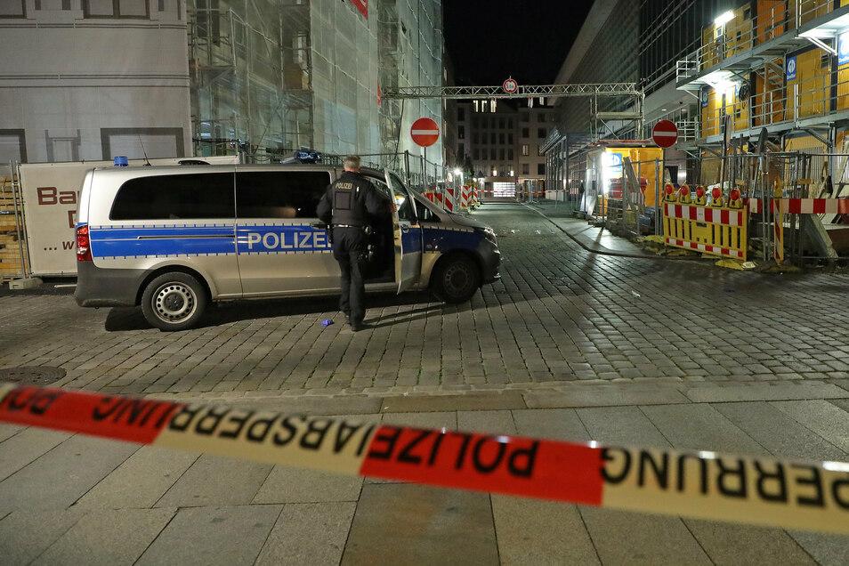 Der Tatort an der Rückseite des Kulturpalastes.
