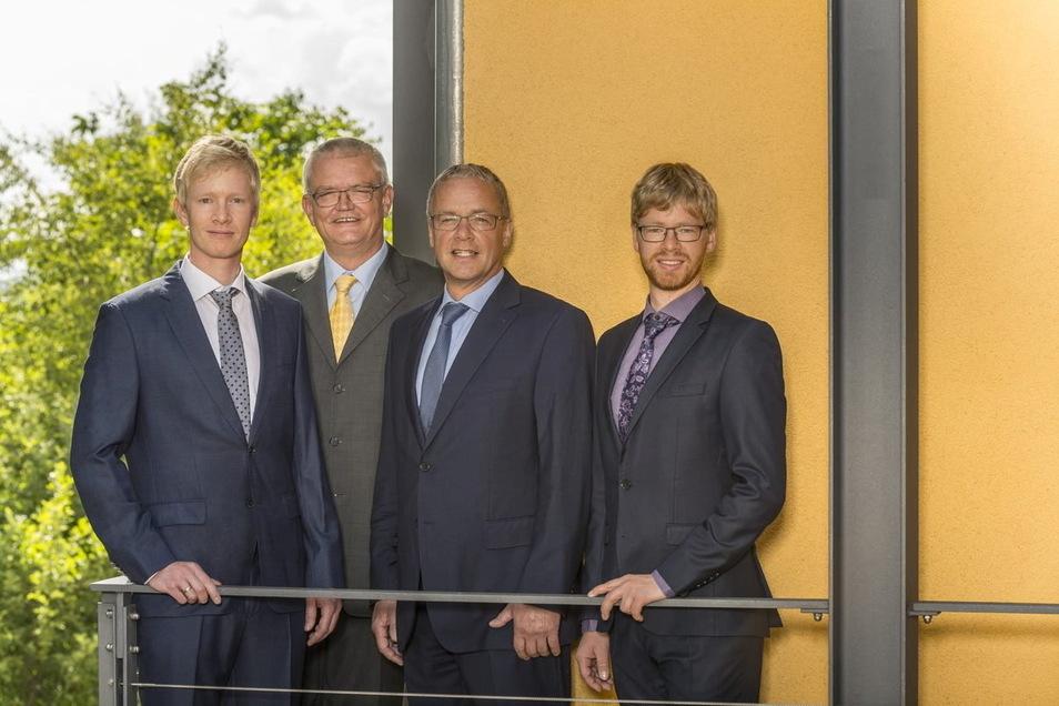 Georg Kritzner, Dirk Zönnchen, Wolfram und Martin Kritzner (v.l.) vom IWB in Bannewitz. F