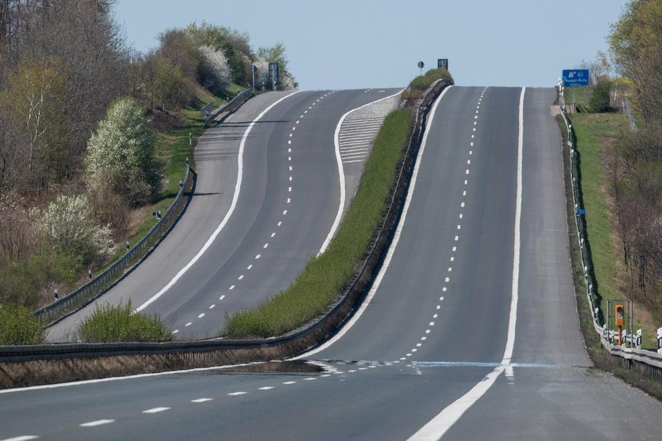 Schon im Frühjahr war die Autobahn zwischen Dresden und Görlitz leergefegt.