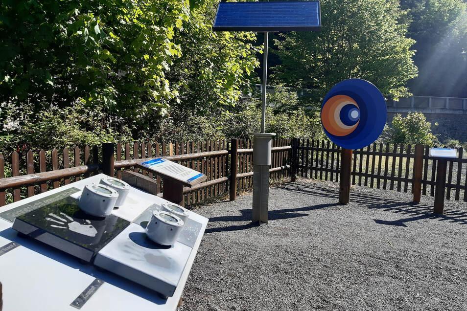 Die Station des Energieerlebnispfades im Rabenauer Grund wurde erneuert.