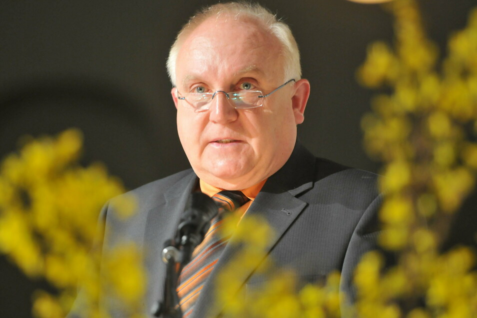 Löbaus Oberbürgermeister Dietmar Buchholz startet in sein letztes volles Jahr im Amt.