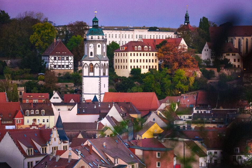 Blick auf die Frauenkirche in Meißen