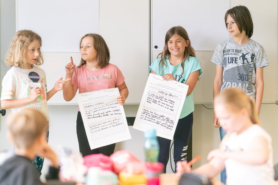 Das sind unsere Vorschläge und Forderungen - die Schüler der dritten Klasse haben aufgeschrieben, wie sie es gern im Schulalltag hätten